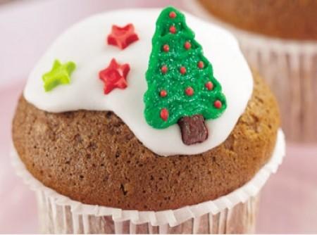 Cupcake de chocolate com nozes