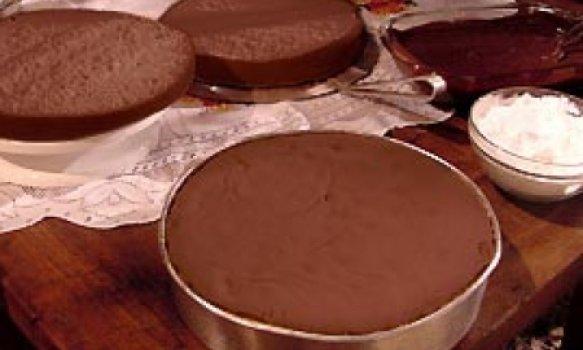 Genoise de chocolate