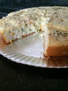 Torta de Ricota com Alho-poró