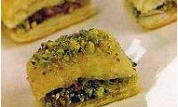 Quadradinho de damasco com pistache