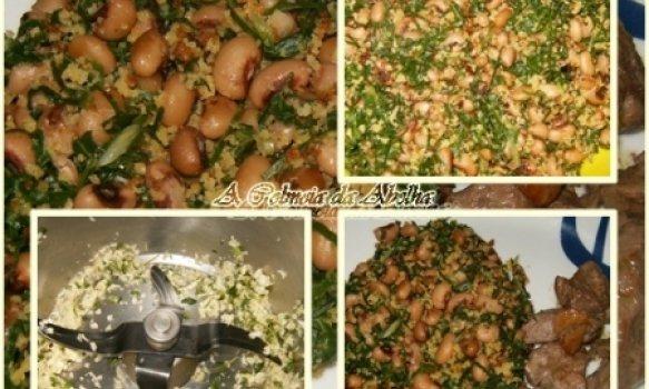 Migas de Feijão Frade com Carne Frita