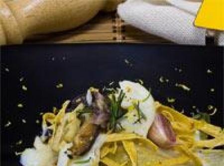 Fettuccine com Bacalhau e Verduras