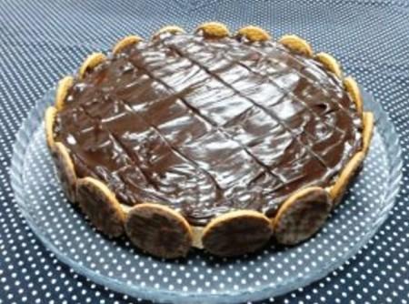 Torta Alemã com Biscoito Maria