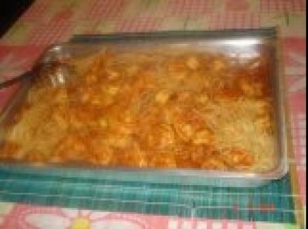 macarrão ao molho de camarão