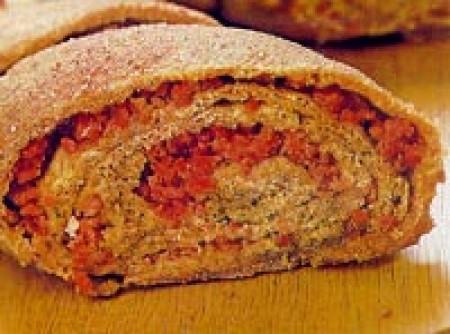 pão de centeio com salame