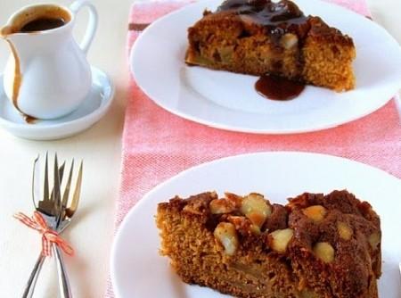 Torta de Maçã com Calda de Caramelo