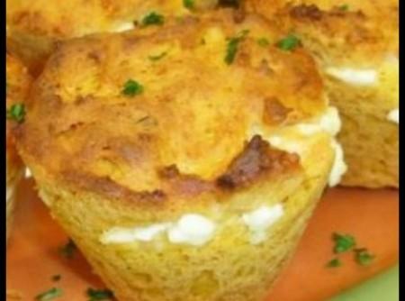 Muffins com Cenoura e Cottage