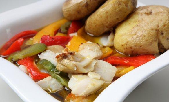 Bacalhau com Batatas Porradas