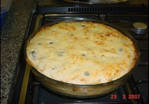 Torta de Bacalhau c/ Requeijão
