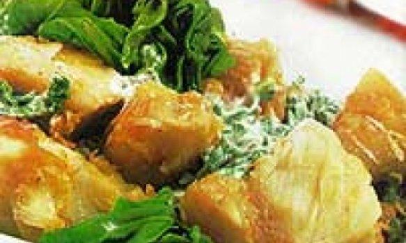 bacalhau com verduras