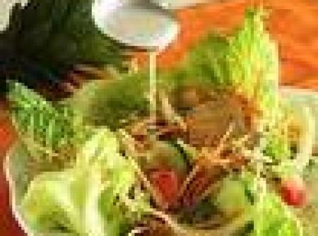 Salada Tropical c/ Frango Defumado