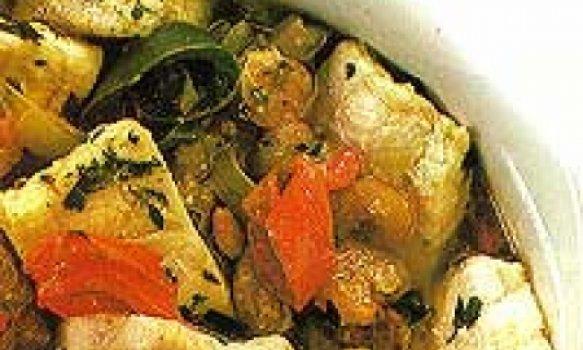 calderda de peixe e camarão