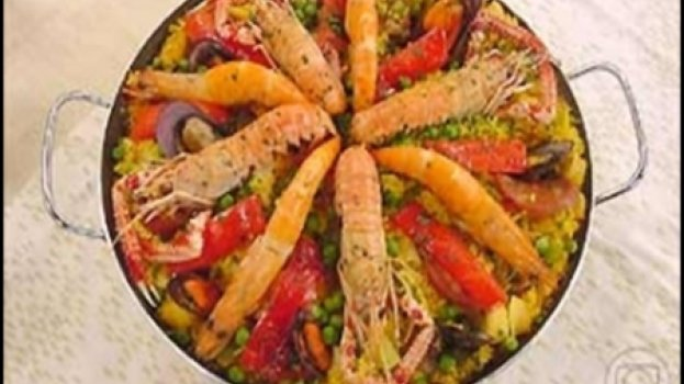 Paella tipo valenciana