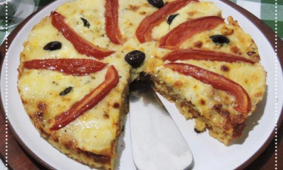 Pizza Marguerita de Macarrão
