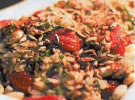 Salada de inverno com arroz integral