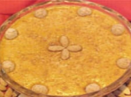 Mousse de biscoito e licor de amêndoa