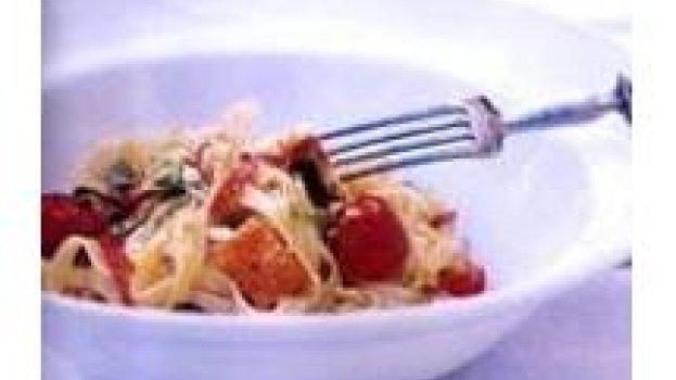 Tagliatelli com Queijo de Coalho, Rúcula e Dedo-de-moça