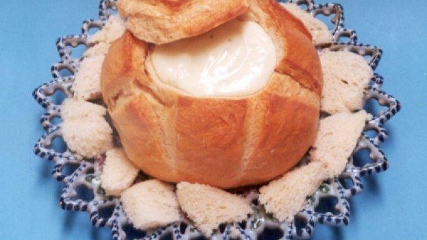Pão Italiano com Creme de Queijo