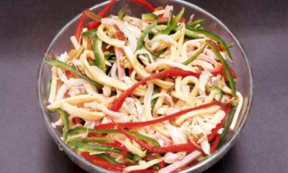 Salada de Frango com Passas e Azeitona
