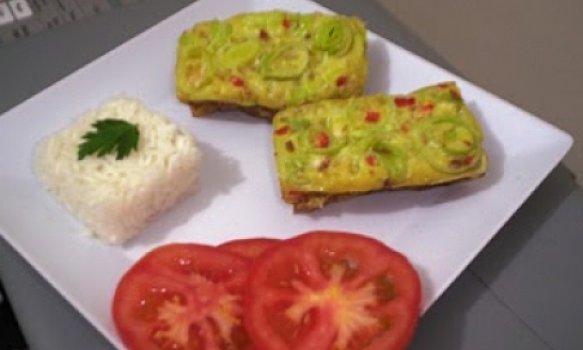 Omelete de Forno de Alho Poró