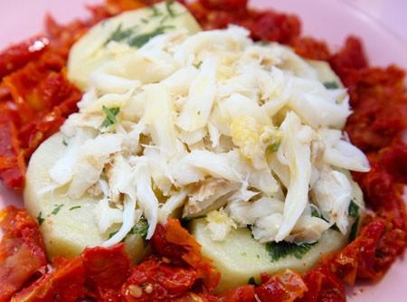 Salada da Batata e Bacalhau