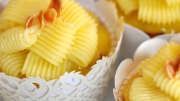 Cupcake de limão siciliano e amêndoa