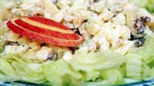 Salada de Salsão, Maçã, Nozes e Passas