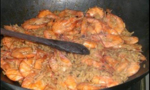 Frigideira de camarão