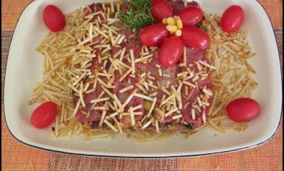 Bolo de Carne Moída com Linguiça