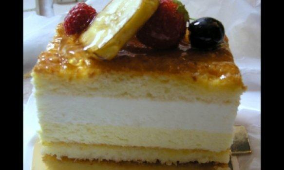 Torta mousse de banana