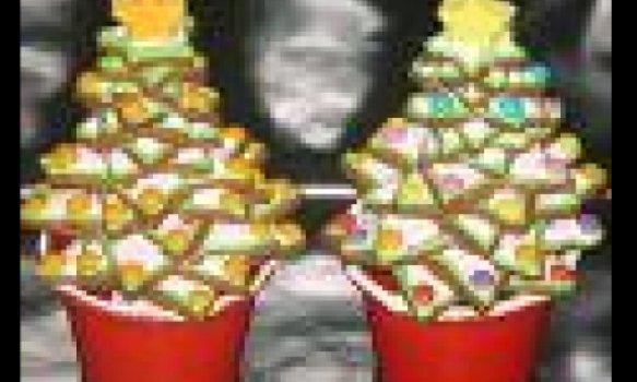 Pinheirinhos de Natal de Casquinhas de Sorvete