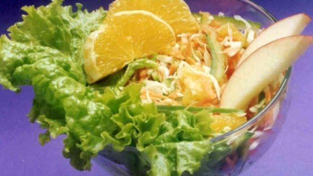 Salada de Repolho com Laranja
