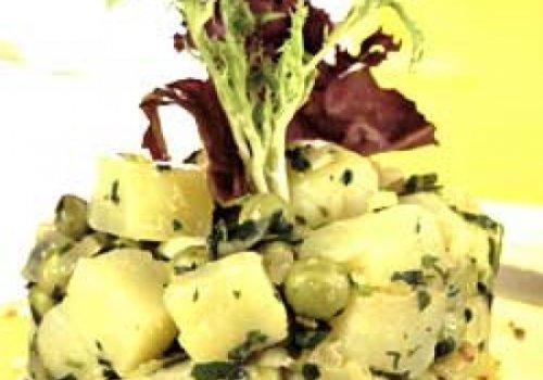 Salada quente de batata com molho de ervas