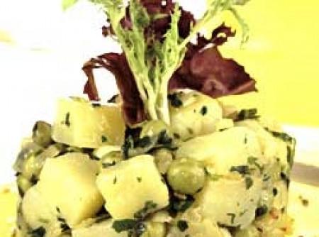 Salada quente de batata com molho de ervas   Otávia Maria Carpanez de Mello