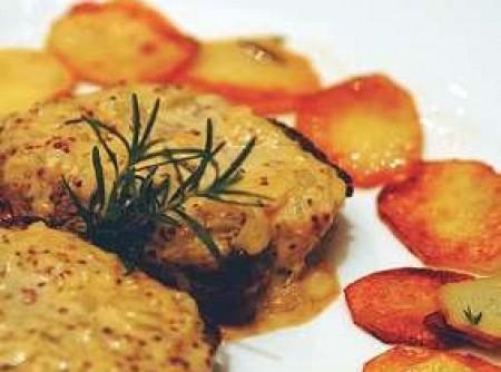 Filet com batata sautée e molho de mostarda | marta