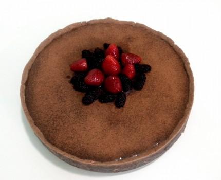 Torta Frutas vermelhas com Creme de Avelã   Lívia Oliveira Godoy