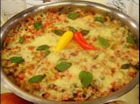 Couve-flor à pizzaiolo com arroz vapt-vupt