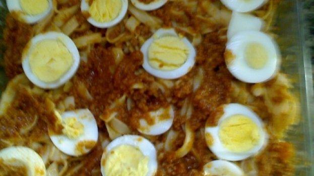 Macarronada com Ovos