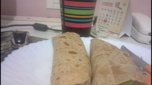 Wrap com Cottage e Atum Light
