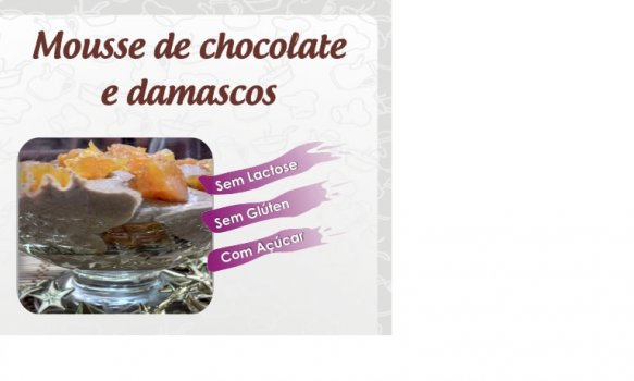 Sorvete de Chocolate e Damasco