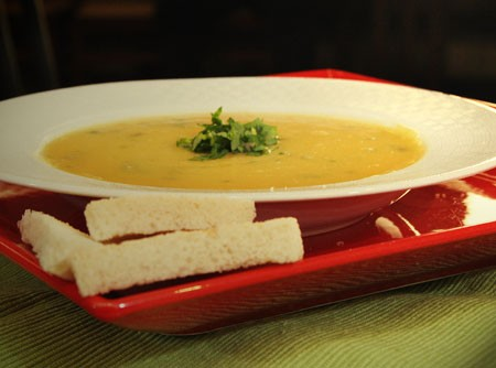 Sopa Cremosa de Abóbora