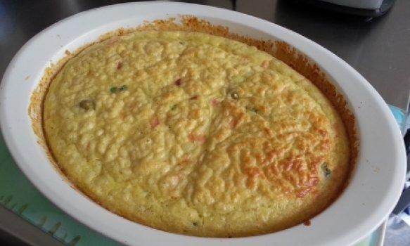 Omelete assado