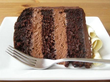 Recheio de Chocolate Meio Amargo para Bolo - Mousse