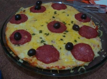 Pizza Aerada de Batedeira