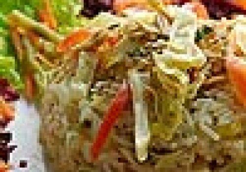 FrFrango Pavulagem (frango desfiado, legumes, arroz)