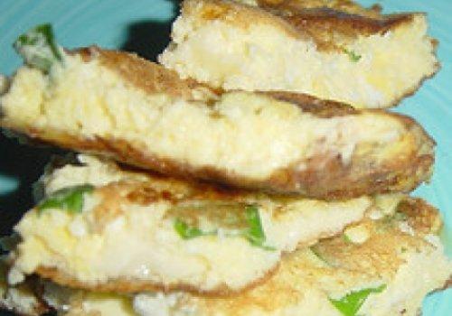 Omelete com Bolinhas de Mussarela