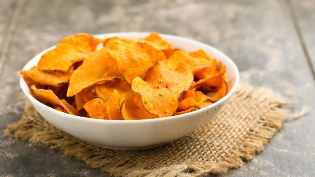 Receita de Chips de Batata Doce