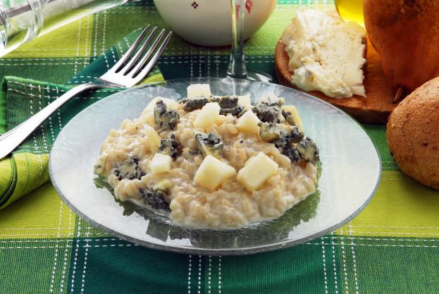 Risoto de Peras com Gorgonzola e Nozes