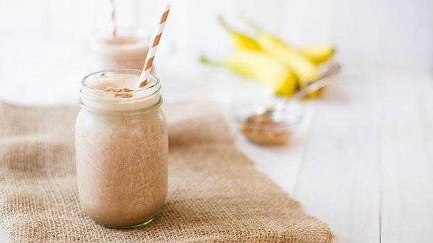 Bebida Proteica de Banana e Pasta de Amendoim