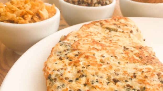 Omelete Proteica com Frango e Quinoa